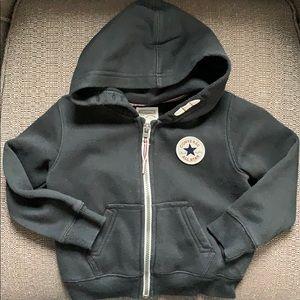 Black Converse Full zip Hoodie